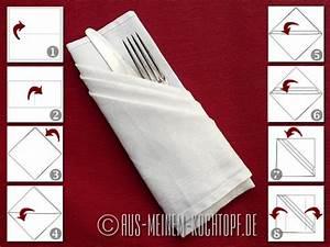 Servietten Falten Bestecktasche : servietten falten vom tafelspitz zur bestecktasche ~ Frokenaadalensverden.com Haus und Dekorationen