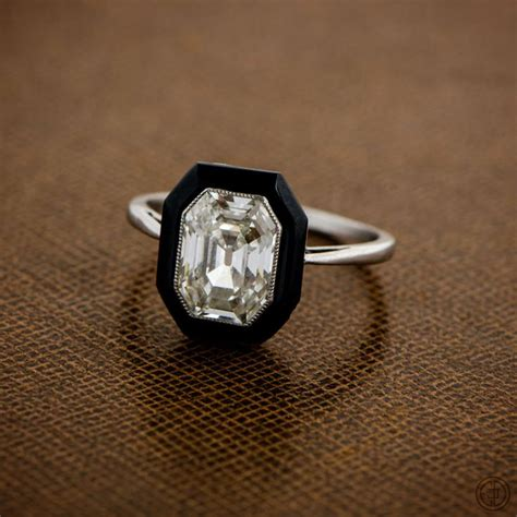 onyx engagement ring ideas  pinterest