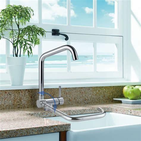robinet cuisine pliable robinet d 39 évier mitigeur cuisine rabattable bec pivotant