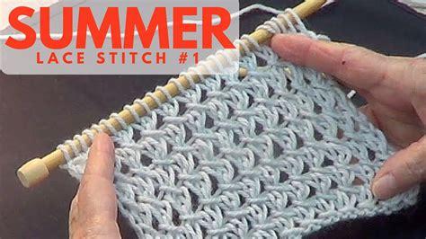 summer lace stitch  youtube