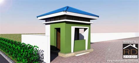 perspektif pos jaga renovasi gedung kantor rumah desain