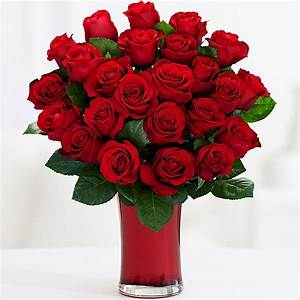 One Dozen Long Stemmed Red Roses and other flowers ...