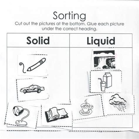 sorting solids and liquids worksheet questions cool stuff