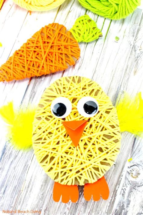 easy easter crafts for yarn crafts for 136 | Easy Easter Crafts for Kids pin2 683x1024