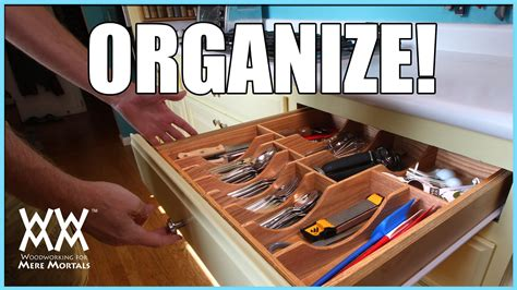 kitchen drawer organizer diy kitchen drawer organizer diy woodworking project 4720