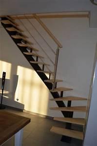 Escalier 1 4 Tournant Gauche : fabrication escalier limon central 1 4 tournant bas gauche ~ Dode.kayakingforconservation.com Idées de Décoration
