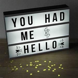 cinema lightbox customisable letter sign by berylune With light box letter sign