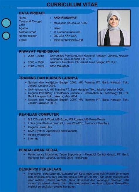 Template Resume Menarik by Contoh Cv Kreatif Menarik Baik Resmi Dan Benar Dalam
