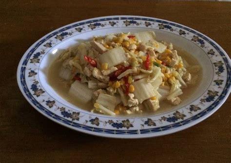 Karena sudah dikenal sejak lama inilah banyak orang yang menganggapnya. Resep Tumis sawi putih dengan tahu dan jagung (frying chinesse cabbage with tofu and corn) oleh ...