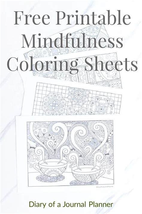 printable mindfulness colouring sheets mindfulness colouring coloring sheets