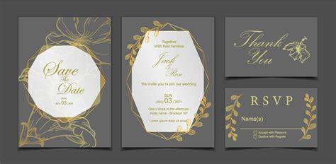 Luxury Wedding Invitation Card Template Dark Background