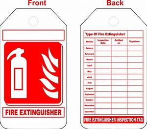 Luxury pics of fire extinguisher certification business for Fire extinguisher inspection tag template