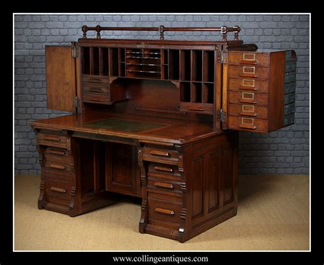 indianapolis cabinet company roll top desk collinge