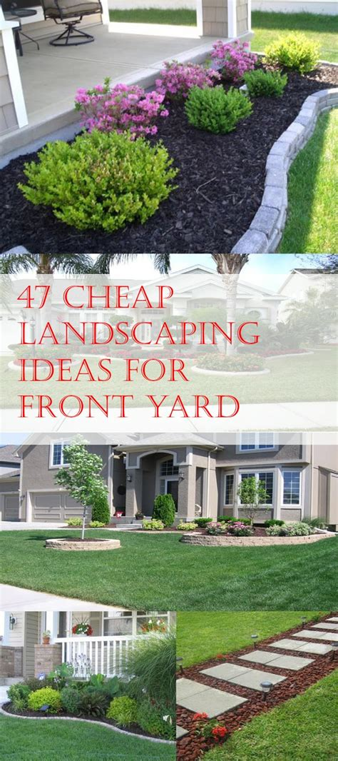 Harmonious Diy Front Yard Landscaping Ideas On A Budget Images