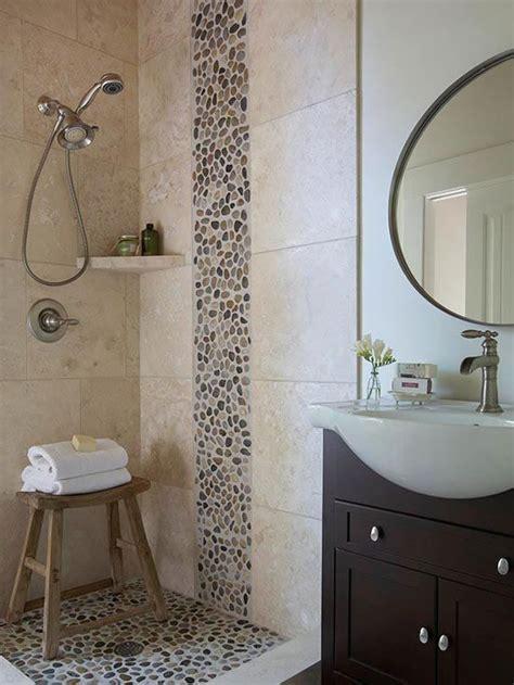 25  best ideas about Pebble tile shower on Pinterest