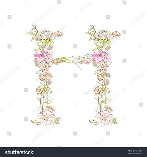 floral font letter h stock photos floral font letter h floral font letter h stock vector 73836607 60525