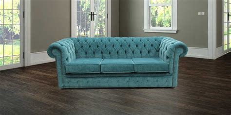 Chesterfield Settees For Sale by Teal Blue Velvet Chesterfield Sofa Designersofas4u