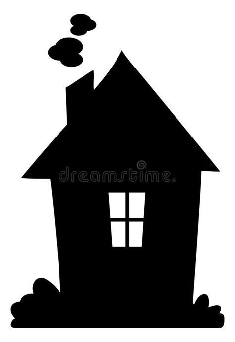 Het Silhouet Van Het Huis Vector Illustratie Illustratie