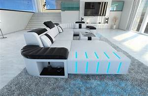 Led Sofa : design sectional sofa bellagio led u shape white black ebay ~ Pilothousefishingboats.com Haus und Dekorationen
