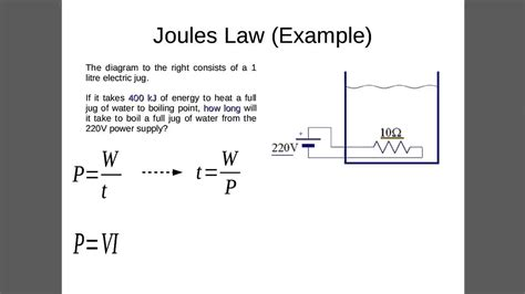 Joule's Law Example 1 (heating Water)