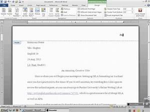 mla settings for microsoft word
