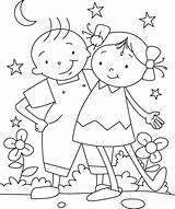 Coloring Pages Friendship sketch template