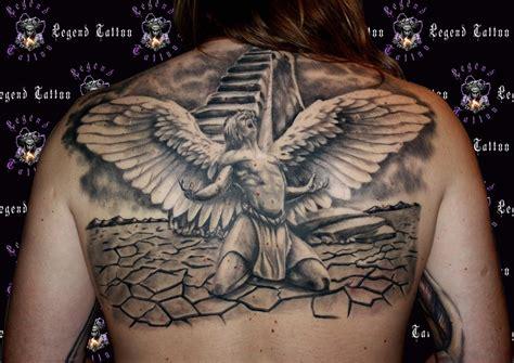 Angel Tattoo, Wwwlegendtattoogr,back Tattoo,fall By