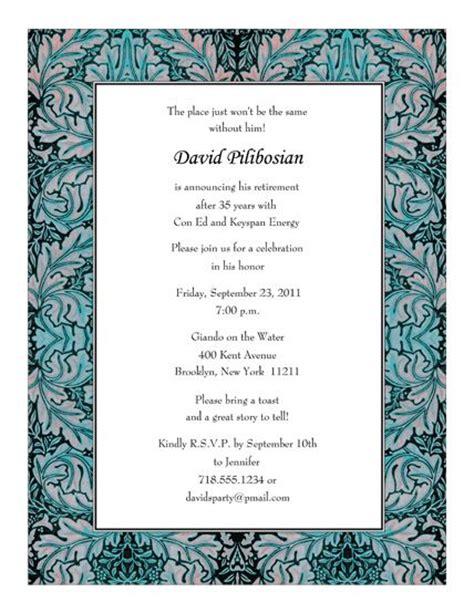 retirement party invitation template retirement invitations templates print your own retirement invitation letter