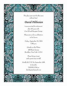 retirement party invitations templates print your own With retirement luncheon invitation template