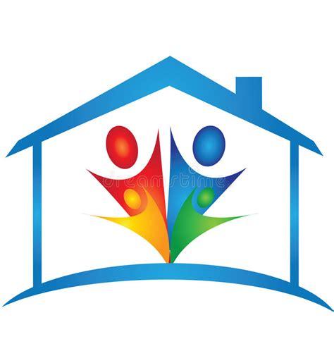 logo chambre logo de chambre et de famille illustration de vecteur