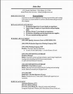 general labor resumeexamplessamples free edit with word With general resume template free