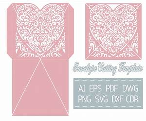 wedding invitation envelope template cutting file svg cdr With wedding invitations template cdr