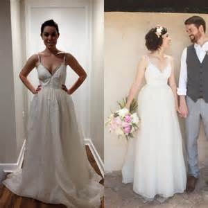 altering wedding dress before and after bridal alterations