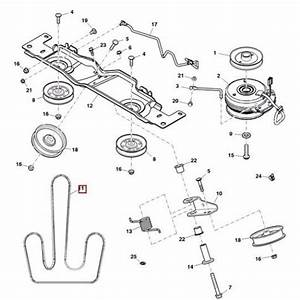 John Deere Transmission Belt  M169705  For Z425 And Z445 Series