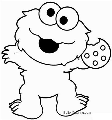 elmo coloring pages cookie monster  printable