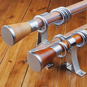 wooden curtain rods and how to buy the right ones traba With double curtain rod wood