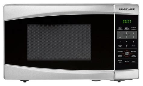 best small microwave frigidaire 0 7 cu ft compact microwave silver ffcm0734ls 1636
