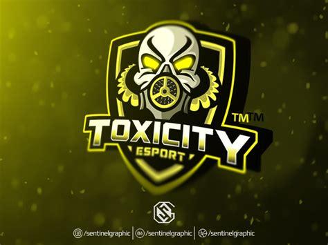 toxicity esport logo gas mask mascot logo sport  teng