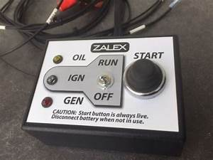 Zalex Engine Test Stand Control Box  Remote Start Switch