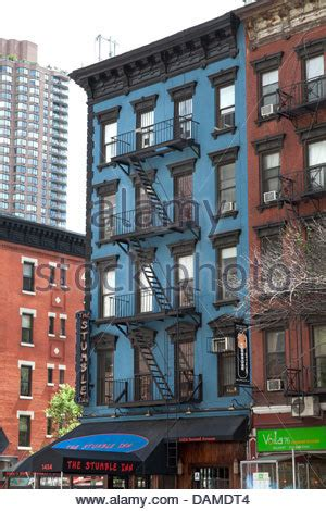 Colorful New York City Apartment by Colorful Apartment Buildings With Escapes Stock Photo