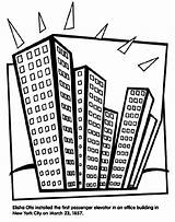 Coloring Elevator Pages Crayola Office Buildings Drawing Building Sheets York Otis Pencils Colored Markers Crayons Elisha Skyscraper Installed Getdrawings sketch template