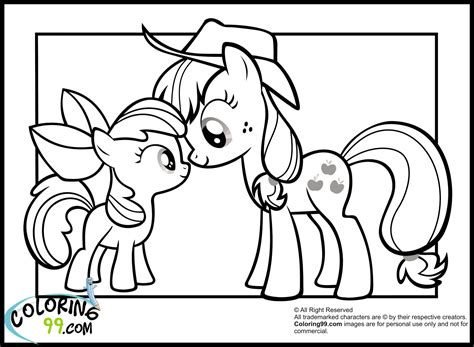pony applejack coloring pages team colors