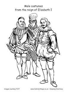 tudor colouring pages