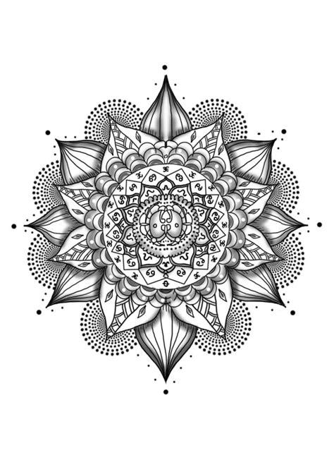 rose flower  mandala tattoo design