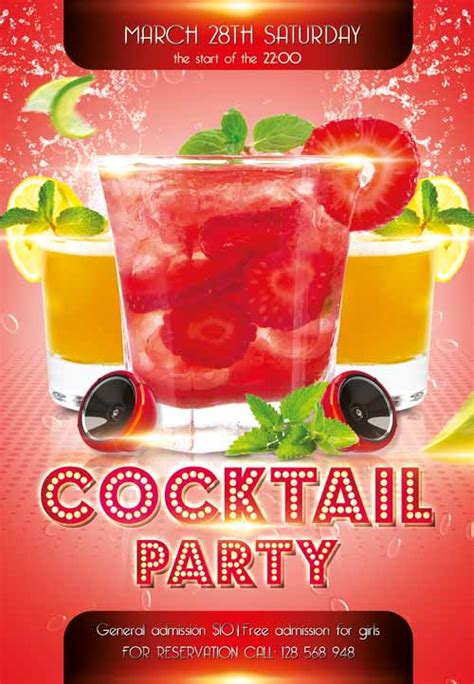 Download The Cocktail Party Free Flyer Template For Photoshop