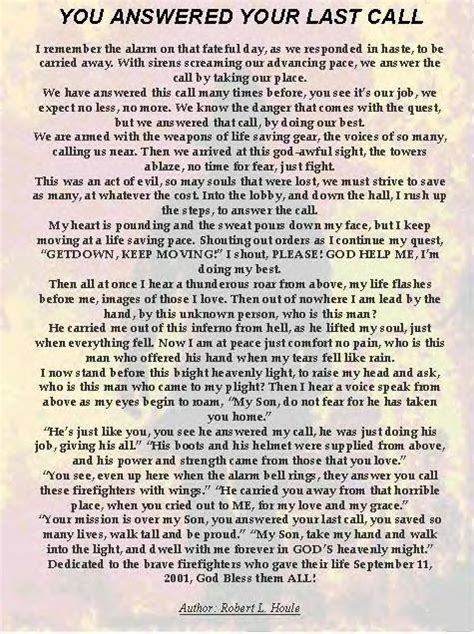 call poem firefighter quotes