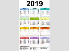 Download Get Free Public Holidays 2019 Calender with USA