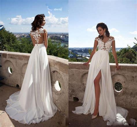 Buy White Ivory Beach Wedding Dresses