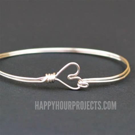 metallic elegance diy wire bracelets