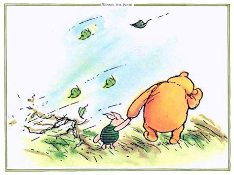 Pooh And Piglet Out In A Gale  Classic Winnie The